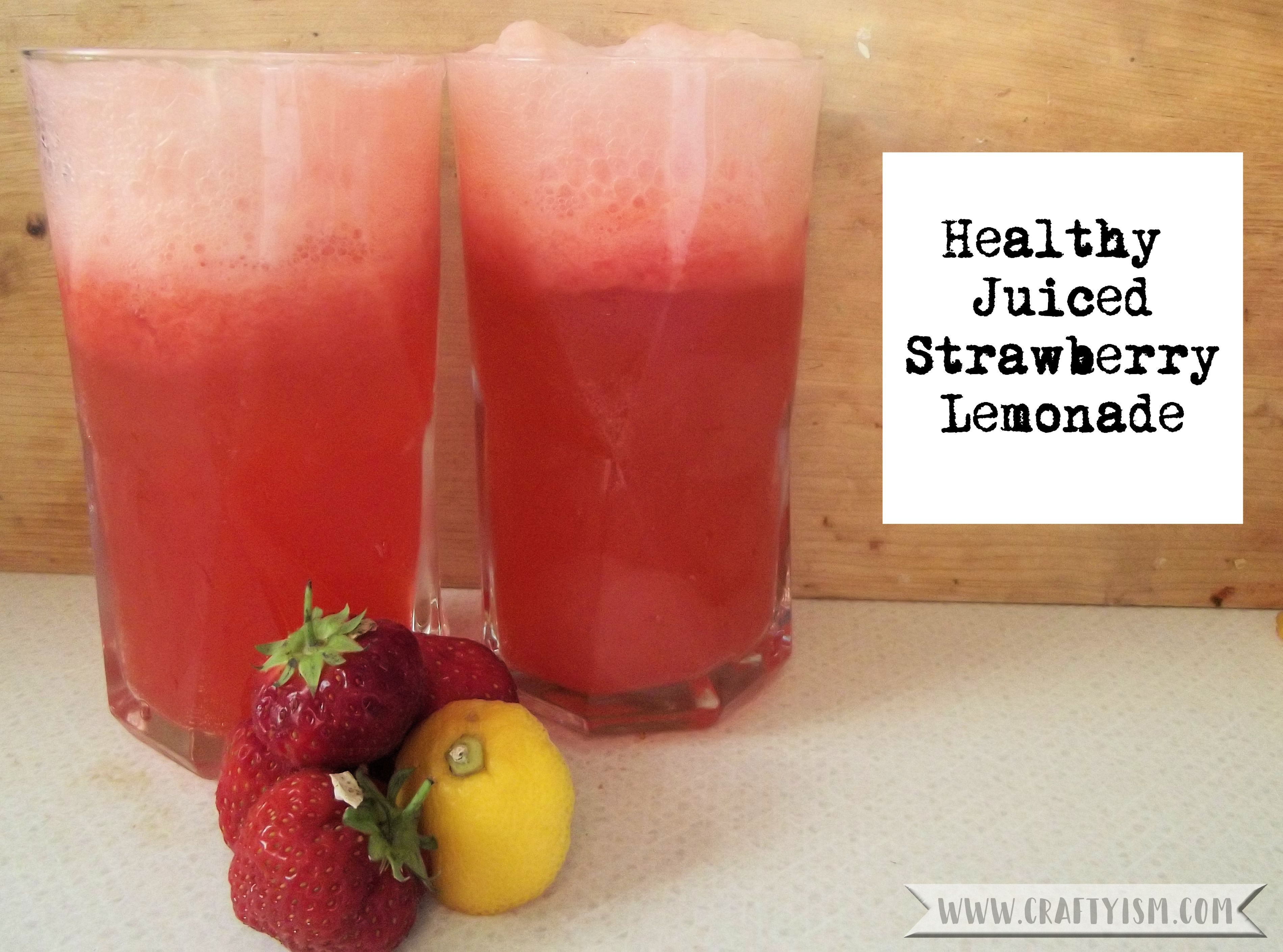 Healthy Juiced Strawberry Lemonade