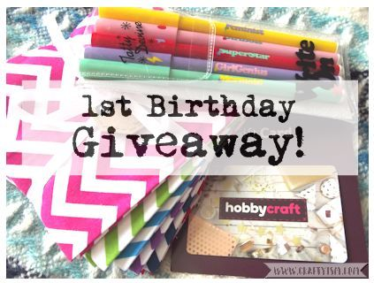Craftyism 1st Birthday Giveaway Competition