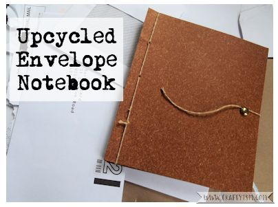 Craftyism - Upcycled Envelope Notebook | Title