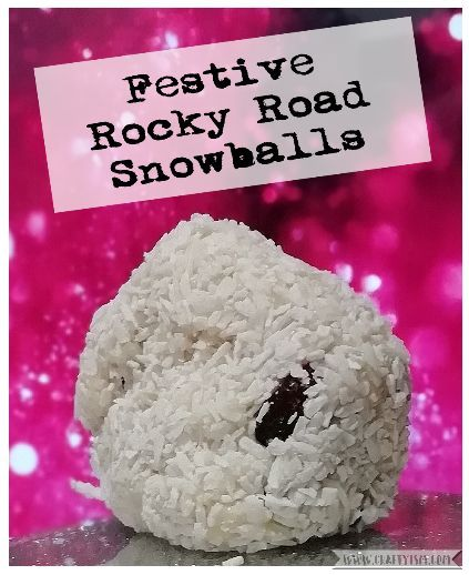Craftyism How to - Christmas Rocky Road Snowballs | Title