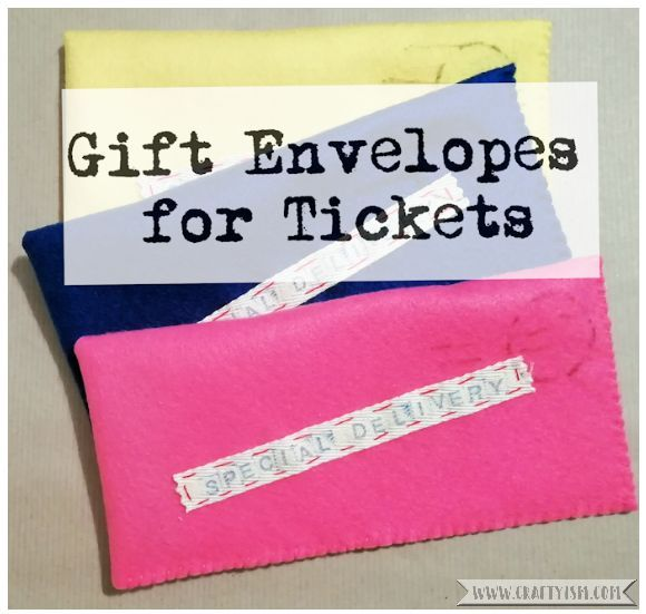 Craftyism - Sewn Gift Envelope for Tickets | Title