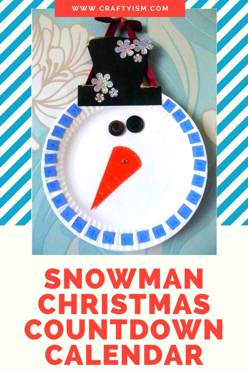 Craftyism| Snowman Christmas Countdown Calendar