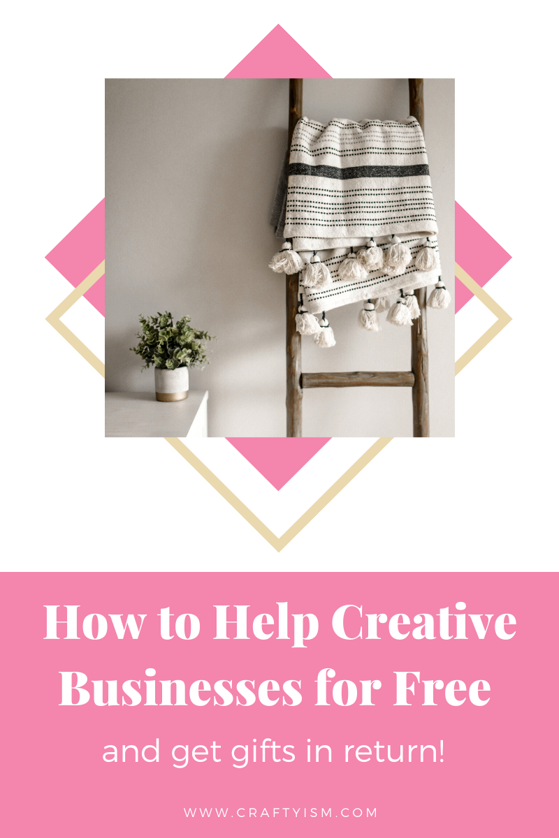 How to Help Small Creative Businesses for Free and get sent gifts